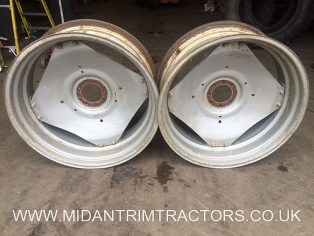 Pair of GKN Sankey 15x38 Wheel Rims & Centres to suit MF