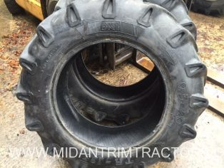 Two used BKT 9.5 x 20 6 ply tyres