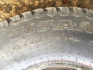 Two used Titan 41 x 14.00 - 20 Multi trac Turf tyres