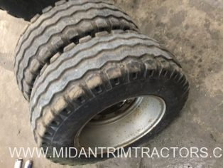 Two Used BKT 13.0/65 x 18 Tyres c/w wheel rims