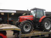 Massey Ferguson 6290 Dynashift being collected for delivery to Turku Port, Finland