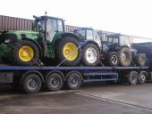 John Deere 7530 Premium being collected for delivery to Wales.