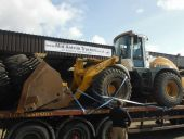 Liebherr L534 Loading Shovel being collected for delivery to Norfolk, England.