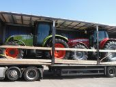 Case-IH JX1090U with Loader being collected for deliver to Norway
