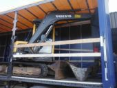 Volvo ECR58 being collected for Delivery
